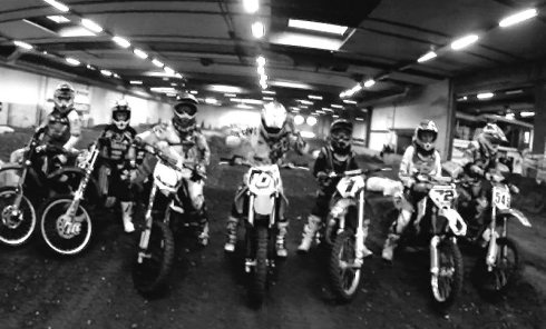 Indoor Motocross at Breum Track, Denmark