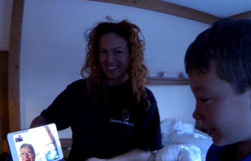 Kristina Caprani på skitur og en 2014 Fødselar'
